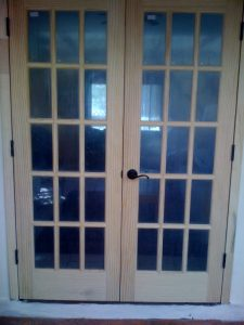 French Doors to cover up the hole