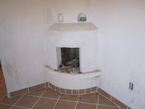 Fireplace with Floor Tile